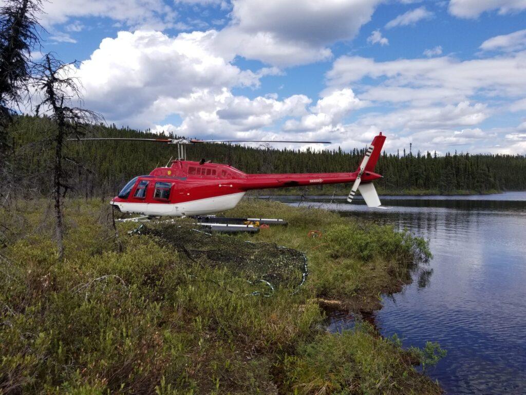 Héli Mistral Service hélicoptère Bell 206 B3 (Rouge)