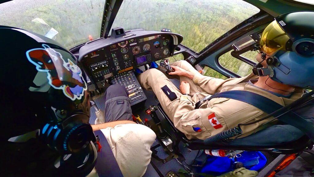 Travail aérien en hélicoptère au Québec
